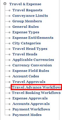 travel advance